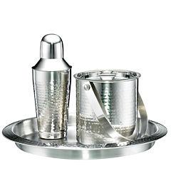 Cambridge® Hammered Stainless Steel 3-pc. Barware Set