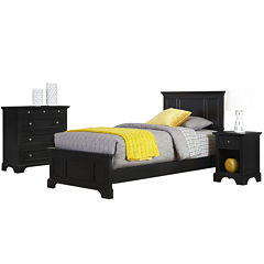 Rockbridge Twin Bed, Nightstand and Chest