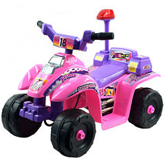 Lil' Rider Pink and Purple Princess 4-Wheel Ride-On Mini ATV