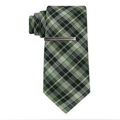JFerrar Formal Glitter Plaid Tie