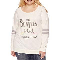 Burnout Sweatshirt- Juniors Plus