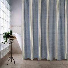 Park B Smith Chambray Twill Stripe Shower Curtain