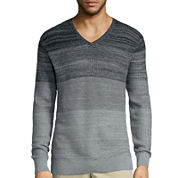 Claiborne® Long-Sleeve Ombre Texture Sweater