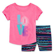 Xersion Girls 2-pc. Short Sleeve Short Set