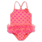 Okie Dokie Girls Pattern One Piece Swimsuit-Toddler