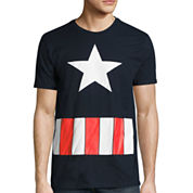 Short Sleeve Captain America Graphic T-Shirt