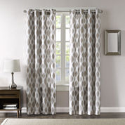 Madison Park Ivy Blackout Grommet-Top Curtain Panel