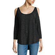i jeans by Buffalo Cold Shoulder Shine Top