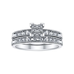 1/4 CT. T.W. Diamond Bridal Set
