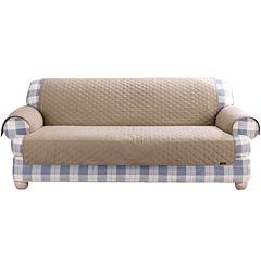SURE FIT® Cotton Duck Sofa Pet Furniture Cover