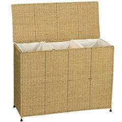Household Essentials® Seagrass Triple Sorter Hamper