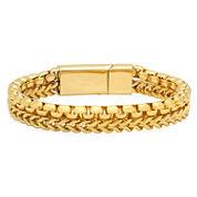 Cubic Zirconia 18K Stainless Steel Chain Bracelet