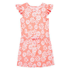 Okie Dokie Short Sleeve Cap Sleeve Sundress - Preschool Girls