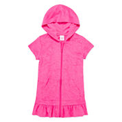 Okie Dokie Girls Solid Dress-Toddler