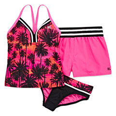 Zero Xposure Girls Leaf Tankini Set - Big Kid