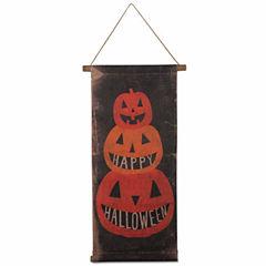 Tag Happy Halloween Scroll Tabletop Decor