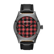 Arizona Mens Black Strap Watch-Fmdarz522