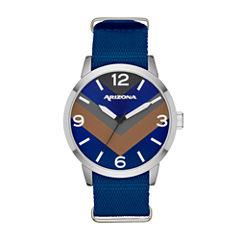 Arizona Mens Blue Strap Watch-Fmdarz527