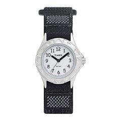 Timex® My First Timex Outdoors Kids Black Nylon Fast Strap Watch T790519J