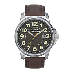 Timex® Expedition® Field Metal Elevated Mens Brown Leather Strap Watch T449219J