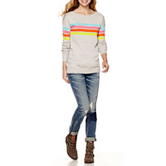 Arizona Pullover Tunic Sweater or Patch Skinny Jeans