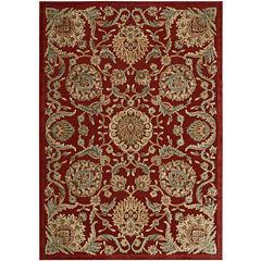 Nourison® Royal Essence High-Low Carved Rectangular Rug