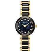 Bulova Womens Two Tone Bracelet Watch-98p159