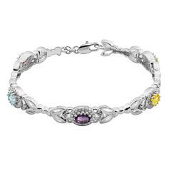 Sparkle Allure Multi Color Topaz Tennis Bracelet