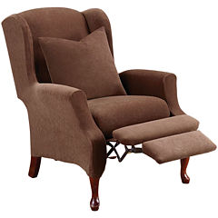 SURE FIT® Stretch Piqué 2-pc. Wing Recliner Slipcover