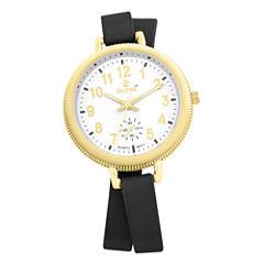Decree Womens Black Strap Watch-Pt2519gdbk