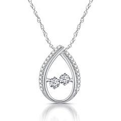 1/3 CT. T.W. White Diamond Round 10K Gold Pendant