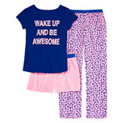 Total Girl Girls Short Sleeve Kids Pajama Set-Big Kid