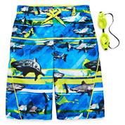 Zeroxposur Boys Pattern Trunks-Big Kid