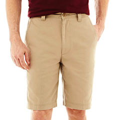 St. John's Bay® Legacy Flat Front Stretch Short