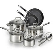 T-fal® Precision 12-pc. Stainless Steel Ceramic Cookware Set