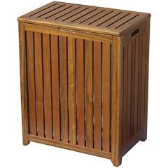 Oceanstar® Spa-Style Solid Wood Hamper