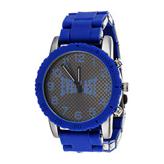 Everlast® Mens Blue Silicone Strap Sport Watch