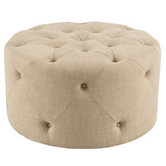 Madison Park Donald Round Tufted Ottoman