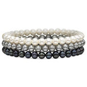 Cultured Freshwater Pearl 3-pc. Stretch Bracelet