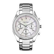 Caravelle New York® Womens Mother-of-Pearl Dial Silver-Tone Watch 43L159