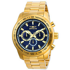 Invicta Mens Gold Tone Bracelet Watch-21797