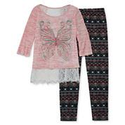 Knit Works Girls Legging Set - Girls 7-16 and Plus
