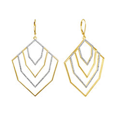 Diamond Addiction 1/10 CT. T.W. Diamond Tiered Geometric Dangle Earrings