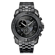 JBW Warren Mens Diamond-Accent Black-Ion Plated Stainless Steel Watch J6331C