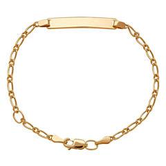 LIMITED QUANTITIES! Children's 14K Yellow Gold Adjustable ID Bracelet