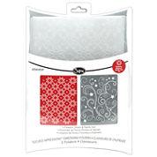 Sizzix® Textured Impressions™ 2-pk. Flowers/Stars Embossing Folders