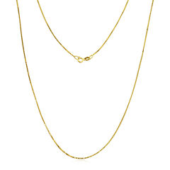 Made in Italy 14K Gold .75mm Box Chain Necklace