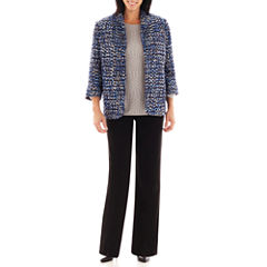 Alfred Dunner® Windy City Tweed Jacket, Lurex® Sweater or Pull-On Knit Pants
