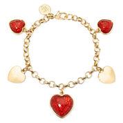 Liz Claiborne® Red Heart Charm Bracelet
