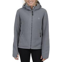 Champion® Sherpa-Lined Microfleece Hooded Jacket - Plus